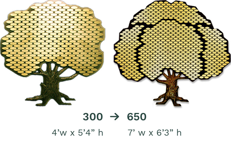 Donor Tree: Classic 300-650 Leaf
