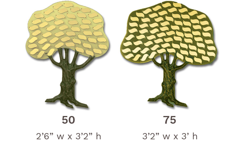 Donor Tree: Classic 50 to 75 Leaf